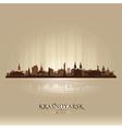 Krasnoyarsk Russia skyline city silhouette vector image
