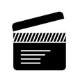 movie clapper icon black vector image