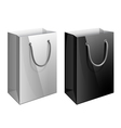 Paper bag Template for the design vector image