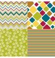 Seamless retro pattern vector image