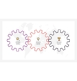 Business infographics Timeline with 3 gears vector image