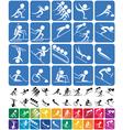 Winter Sports Symbols vector image vector image