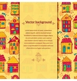 Colorful houses background with pace for text vector image
