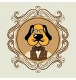 Hispter funny animal cartoon vector image