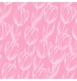 pink tulips pattern vector image vector image