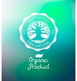 Circle tree logo design template vector image