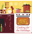 Cooking for the holidays vector image