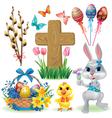 Easter symbols set vector image