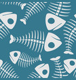 fish bones seamless pattern fishy skeleton vector image