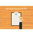 kpi key performance indicator checklist vector image