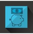 piggy saving money bill dollar vector image
