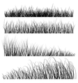 Set of grass silhouettes backgrounds vector image