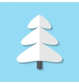xmas tree web flat icon vector image