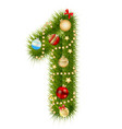 Christmas alphabet number vector image vector image
