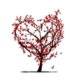 Love tree for your design vector image vector image
