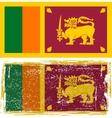 Sri Lanka grunge flag  Grunge effect can be vector image