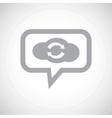 Cloud exchange grey message icon vector image