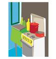 cartoon kitchen interior vector image