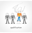 Qualification vector image