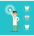 Dentist with tooth vector image