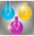 Set of colorful arrows Website elements vector image