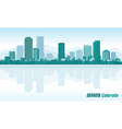 Denver Colorado detailed skyline vector image