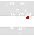 christmas card paper template horizontal vector image