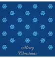 Christmas card with many showflakes vector image
