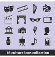 culture icons vector image