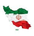 Map of Iran vector image