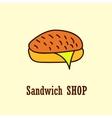 Sandwich logo template vector image