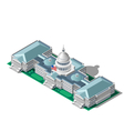 Election Infographic Parliament Isometric Building vector image