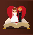 get married couple bible heart card vector image