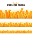 seamless french fries background vector image