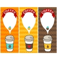 coffee banners with bubble speech vector image