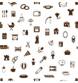 seamless family and home pattern vector image