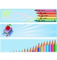 different back to school banners vector image vector image