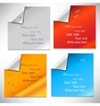 Colorful paper stickers and notes vector image vector image