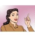 Business coach woman retro vector image