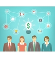 Business Team Creates Idea vector image