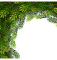 christmas wreath frame from fir tree branches vector image