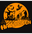 Halloween-yellow-party vector image