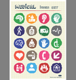 Medical and human web icons set drawn by chalk vector image