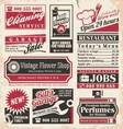 Retro newspaper ads design template vector image
