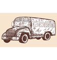 School props Schoolbus vector image