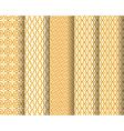 Set of Arabic patterns vector image