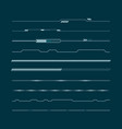 set of hud lines infographic elements head-up vector image