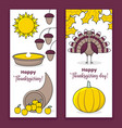 thanksgiving banners vector image