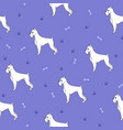 unusual seamless pattern with cartoon cute dogs vector image
