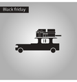 black and white style icon car gifts vector image